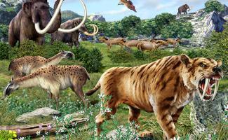 Ilustracion cuatrenario dominio mamiferos
