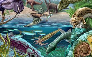 Ilustración mesozoico