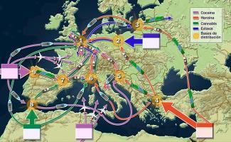 Ilustración mapa de Europa
